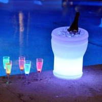 Quality personalized Led colour changing ice bucket with stand funky ice buckets for sale