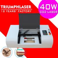 China Triumphlaser Hot sale Co2 mini laser engraving machine for wood rubber stamp laser engraver cutter 300*200mm 40W USB wholesale