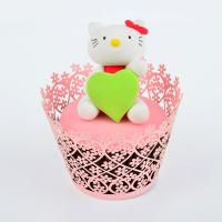 China Red Hollow Baby Shower Pearl Paper Cupcake Wrappers Personalized Eco - Friendly wholesale
