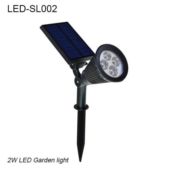 Quality 2W IP65 exterior solar LED light & Solar led garden light for park for sale