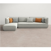 China L Shape Fabric Living Room Sectional Sofa SMY-7177 With Recliners wholesale