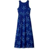 China Blue Starfish Printing Little Girl Summer Dresses Kids Sleeveless Dress Round Neck wholesale