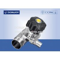 China Multiport Sanitary Diaphragm Valve , Three port valve with Welding Ends wholesale