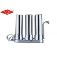 China 10 Inch Three Stage Water Filter Parts Stainless Steel Desktop Faucet wholesale