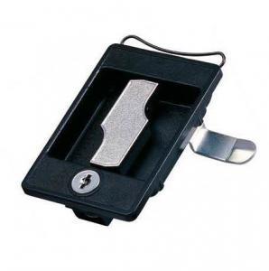 China Steel cupboard lock cabinet lock for metal furniture door Locking Handle Black Panel Lock wholesale