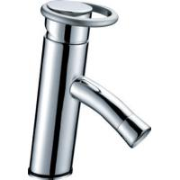 China Circular Handle Basin Tap Faucets , H59 brass gravity casting body low water pressure wholesale