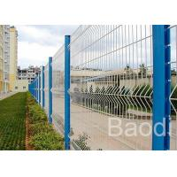 China Plastic Coated Wire Mesh Fence Panels With Metal Post For Field Fence wholesale