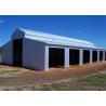 China Galvanized Steel Building Barn Kits , Corrugated Sheet Prefab Steel Barn Kits wholesale
