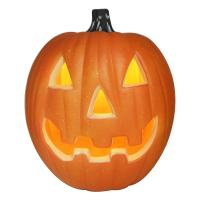 Quality 2019 Halloween toy plastic Jack-o-lantern with light,Decor for halloween,Orange for sale