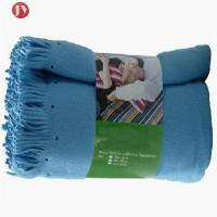 China Polyester Airplane Soft Travel Blanket Polar Fleece Blanket With Handle Blanket on sale