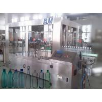 China 6000BPH 500ml Automatic Bottle Filling Machine , 18-18-6 Rinser Filler Capper Machine wholesale