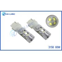 China 2x3156 High Power 60W CREE Crystal White LED Signal Brake Back Up Light 3157 Car Light Bulb on sale