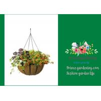 Garden Palm Hanging Flower Baskets , Outdoor Hanging Pots For Plants
