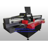 China Professional Flatbed 3D UV Inkjet Printer , Wide Format Inkjet Printer With Varnish Printing wholesale