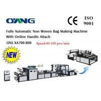 China High Speed PP Non Woven Bag Making Machine For D - Cut Bag One year Warranty wholesale