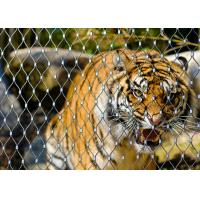 China Stainless Steel Animal Enclosure Mesh Corrosion Resistant For Lion Tiger Cage wholesale