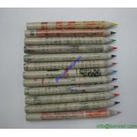 China paper pencil,newspaper pencil, recycled Hb pencil, eco pencil, green pencil wholesale
