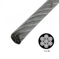 China 7x19 Strong Vinyl Coated High Tensile Wire Rope Galvanized For Security Cables on sale