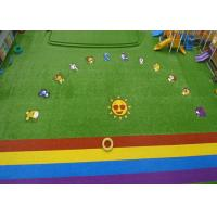 China Custom Natural Green Coloured Artificial Grass For Garden Playground wholesale