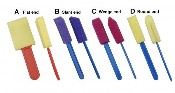Quality Accessoires de peinture d'art peignant le rouleau de mousse d'outils pour la taille d'A B C D quatre et coloré for sale