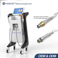 2017 hot selling double handle pieces RF micro-needlewrinkle removal  scar removal ance treatment machine