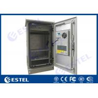 24U Single Wall Outdoor Telecom Cabinet With Heat Insulation Galvanized Steel Material Air Conditioner Cooling