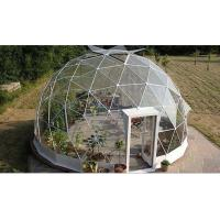China 4M - 10M PVC Cover Metal Frame Garden Clear Geodesic Dome Tent For Sale wholesale
