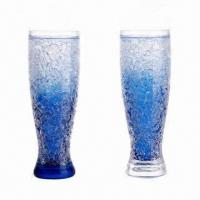 China Plastic beer mugs with ice mug/beer cooler/ice tumbler 450ml capacity wholesale