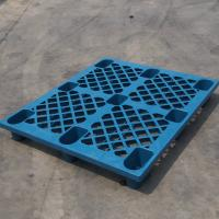 China Stackable HDPE Industrial Plastic Pallets Single Faced For Chemical Fertilizer on sale