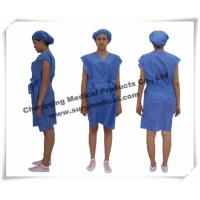 China Disposable Surgical Gowns Non - woven Hospital Nursing Uniform Patient Protection on sale
