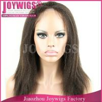 China AAAAA grade factory price Russian yaki straight hair silk top full lace wig wholesale