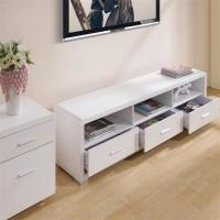 China Melamine Covered Solid Wood TV Stands For Flat Screens Low Formaldehyde Emission wholesale