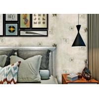 China 0.53*10M Removable Living Room Wallpaper , Non Woven Wallcovering American Style on sale