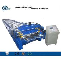 China 8 - 25m / min Speed Metal Deck Roll Forming Machine For Steel Floor Deck System wholesale