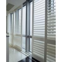 China indoor 100% basswood sliding shutters for windows and doors with frame and rail wholesale