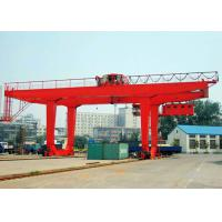 China 50 Ton Container Double Beam Gantry Crane With Spreader Overload Protection wholesale