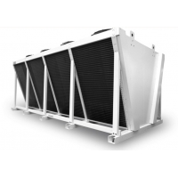 China Louvered 9.52mm Tube Air Condenser Cooler for Chemical wholesale