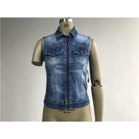 Buy cheap Fashion Ladies Denim Jacket Button Through Sleeveless Denim Jacket TW72959 from wholesalers