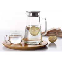 China Heat-resistant glass teapot Thickened cold water bottle jug Large-capacity glass pot with lid wholesale