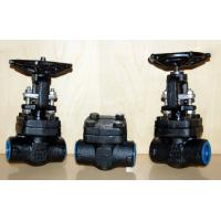 China Forged Steel Globe Valve Carbon Steel / Stainless Steel , Flexible Wedge Bolted Bonnet on sale