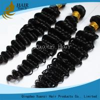 Long Lasting Malaysian Virgin Hair Extensions Deep Wave 8  -  32 Feet  No Chemical 7A for sale