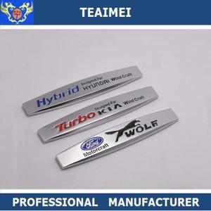 China High Temperature Chrome Front Side Car Door Emblems Customs Logo wholesale