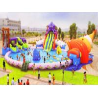 China Non Toxic Stable Tarpaulin Inflatable Water Amusement Park Giant Water Slide Pool wholesale