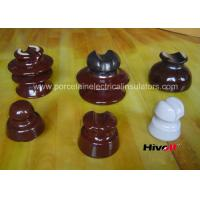 China 11kV And Below Porcelain Pin Type Insulators With Porcelain Thread wholesale