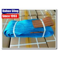 China LOGO Printable Polyester Lifting Slings For Construction WLL 8000kg wholesale