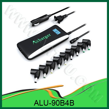 Quality Up to Date 90W Laptop DC Car Adapter 2 in 1 for home and car use for sale