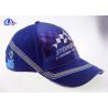 China Cotton Woven Racing Baseball Caps 6 Panel wholesale