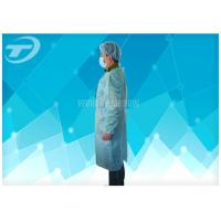 China 18-40G / M2 Disposable Medical Gowns Nonwoven With Knitted Cuff on sale
