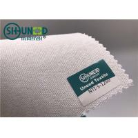 Buy cheap White Polyester Tie Interlining Fabric For Silk Tie Shrink Resistant from wholesalers