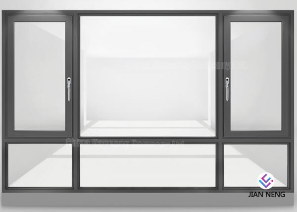 Quality Double Glazed Aluminum Frame Window Horizontal Opening Pattern Finished Surface for sale